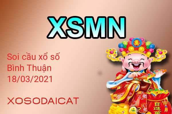 Dự Đoán Xổ Số Bình Thuận Ngày 18-03-2021