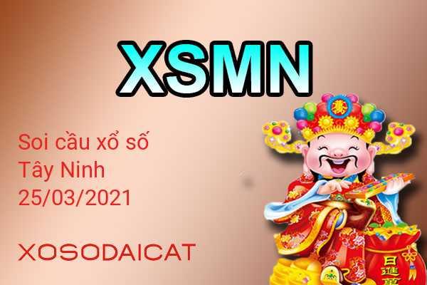 Dự Đoán Xổ Số Tây Ninh Ngày 25-03-2021