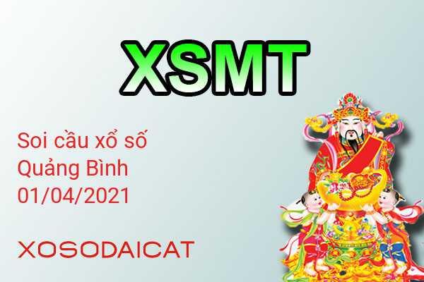 Dự Đoán Xổ Số Quảng Bình Ngày 01-04-2021